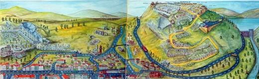 Bergama Şehir İllüstrasyonu