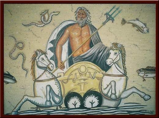 Poseidon'un Atları (The Horses of Poseidon) 100X130 cm - 2004