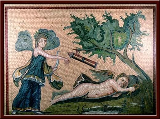 Eros ve Psyche (Eros and Psyche) 100X130 cm - 2004