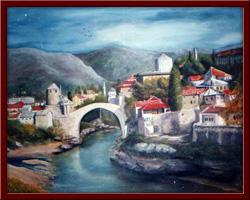 Mostar 70X90 cm - 1996