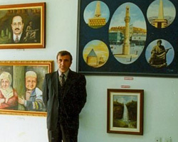 5.Dede Korkut Kültür Şenlikleri kapsamında gerçekleştirilen sergiden bir kare.