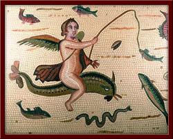 Eros ve Yunus ( Eros and the Dolphin ) 100X130 cm - 2003