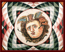 Medusa (Medusa the Mortal of the Gorgones) 110X110 cm - 2003
